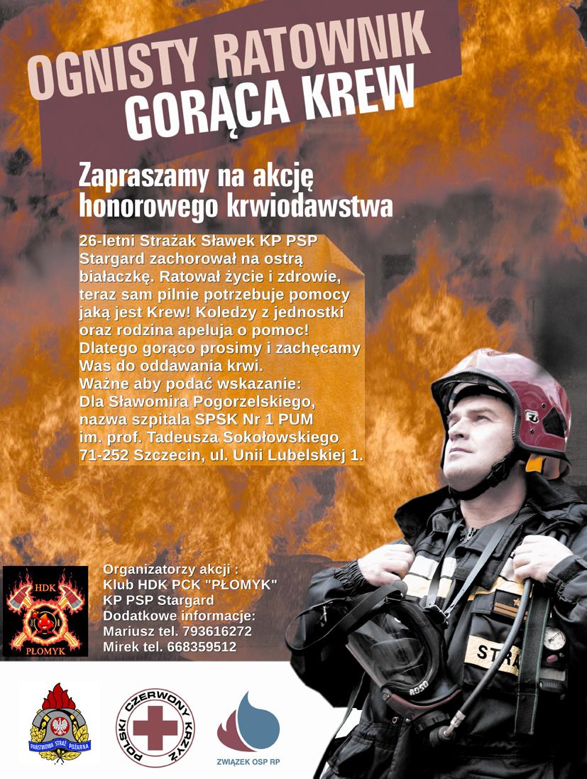 Pomoc dla strażakja